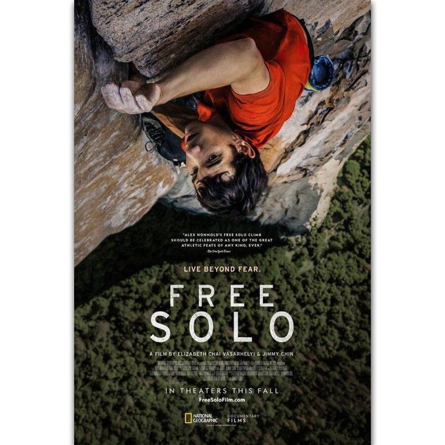 Y276 Free Solo Movie Alex Honnold Solo Climb Yosemite Doc Film Poster Custom