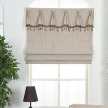 Window Blackout linen Roman Blinds Shades Curtain(Pleated top,Chain control)finished blinds,Contact us for more sizes or colors(China)