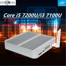 Fanless Barebone Mini PC Core i5 7200U/i3 7100U Kaby Lake PC Win10 Mini Desktop Nuc 4K HTPC Fanless Nuc Intel HD Graphics 620