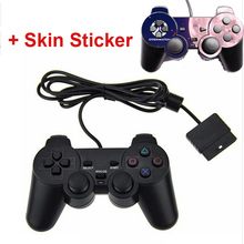 Black Wired 1.8M Shock Remote Controller For PS2 Wired Game Controller For Sony PS2 Wired Controller Gamepad