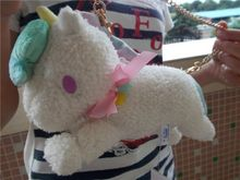 "10"" Sanrio Little Twin Stars White Unicorn Bag Charm Animal Doll Plush Stuffed Toy NWT(China)"