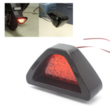 Universal 12SMD LED DC 12V Triangle design Red Car Tail Light Third  Brake Stop Lamp safety Fog Strobe Lamp Bumper