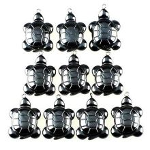 2017 Sale Limited Solitaire Stone Collares Kolye Wholesale 50pcs 18x13x7mm Beautiful Carved Small Turtle Hematite Pendant Bead