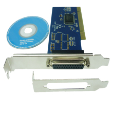 PCI Printer/Parallel Port Card PCI with transfer rate 1.5 MBps for PC/desktop laptop PCI00602(China)
