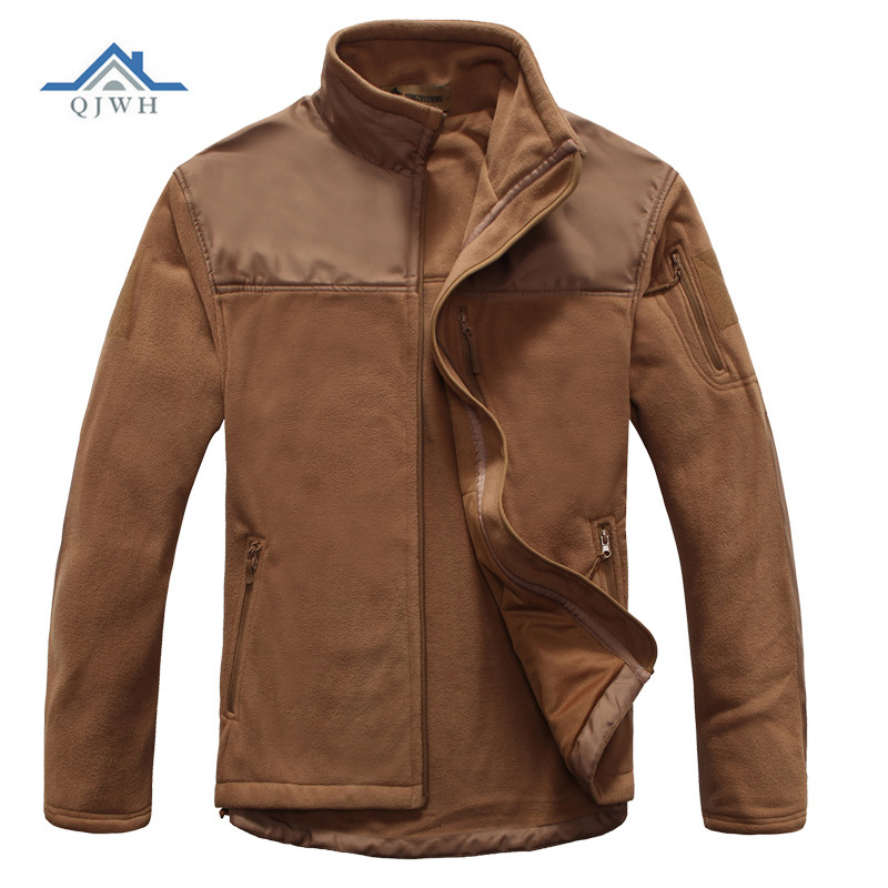 Hot 2017 Outdoor Autumn Winter Thicken Tactical Sharkskin Splicing Polar Fleece Warm Air Military Hiking Camping Charge coat<br>