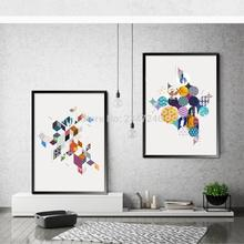 Minimalist Abstraction Printing Fashion Pattern Art Paintings Canvas Living Room Home Decoration(China)