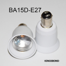 10PCS BA15d to E27 Adapter Converter Base holder socket made of Pottery and Porcelain for E27 LED Lamp Bulbs(China)