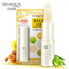 BIOAQUA Pure Natural Plant Honey Moisturizing Lip Balm Colorless Refine repair lip wrinkles For Woman Winter Lip Care(China)