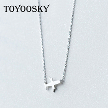 Buy TOYOOSKY Real. 925 Sterling Silver Aircraft Airplane Plane for $6.47 in AliExpress store