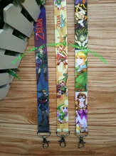 Free shipping 10pcs/lot new Fashion cartoon ZELDA lanyards mobile phone neck key chain accessory L-2069