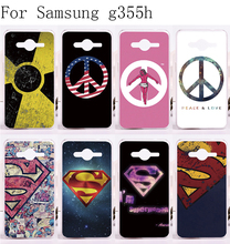Custom Phone Cover For Samsung Galaxy Core 2 G355h Cases Luxury Superman  America Captain Medal Plastic and Silicon Protective