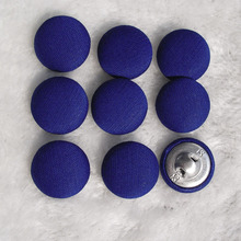 Free shipping 100pcs/lot 20mm 2cm Navy Blue made by hand fabric cover button cloth covered buttons component with shank E259(China)