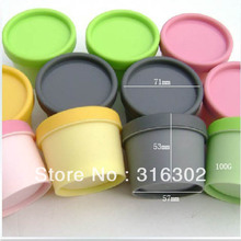 24 x 100g  Empty Plastic Cream Jars Pots Containers Make Up Cosmetic Packaging  White Black Pink Yellow Green