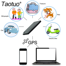 Card Shape GPS Tracker Anti-theft Car GPS Supplies Google Link Real Time Tracking Device GSM Alarm Locator For Car Person Bag