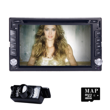 New universal Car Radio Double 2 Din Car DVD Player GPS Navigation In dash Car PC Stereo Head Unit video+Free Map subwoofer SWC(China)