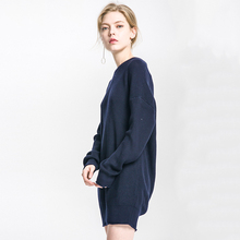 Women Sweater Shirt Jumper 2018 Spring Sweater Oversized Sweater Loose Knitted Female Long Sleeve Woman Sweater In long section(China)