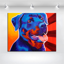 Large size Print Oil Painting rottweiler baloo Wall painting Home Decorative Wall Art Picture For Living Room paintng No Frame(China)