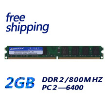 Brand new sealed ddr2 800 2 gb de memoria ddr ram PC 6400, compatible con 667 Mhz 533 MHZ trabajo en toda la placa madre