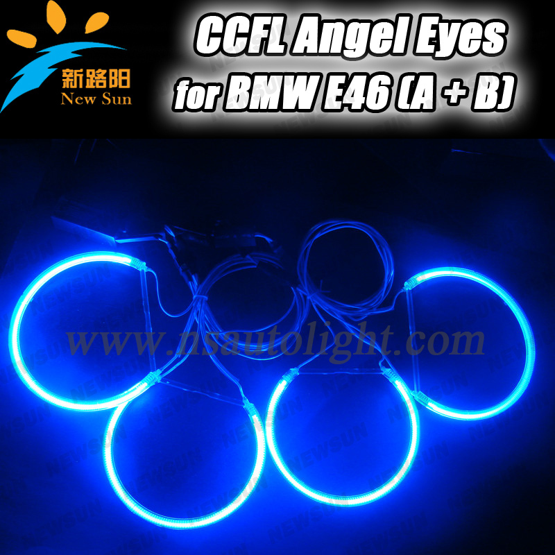 Ultra brightness CCFL angel eyes for BMW e46 non projector 131mm &amp; 145mm ccfl angel eye lighting e46 ccfl angel eye marker<br>