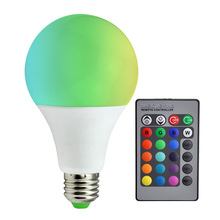 LED Bulbs Lamp E27 RGB 5W 7W 12W LED RGB Bulb Light 110V 220V 85-265V Remote Control 16 Color Change Lampada LED Luz A80