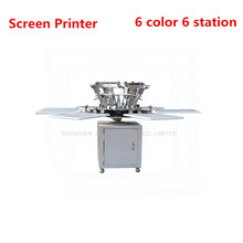 1Set 6 color 6 station T-shirt screen printing machine comeswith base good quality(China)