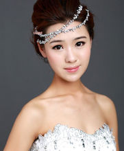 Hot Lovely Girl Rhinestone Flower Metal Headband Head Chain Hair Band Jewlery Gift(China)