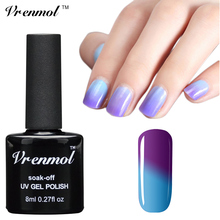 Vrenmol 1pcs 8ml Fashion Colors Temperature Change Color UV Gel Nail Polish Long Lasting Soak Off Thermo Gel Varnishes