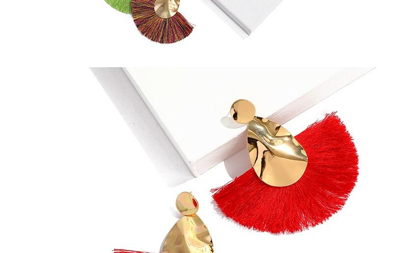 AYAYOO 19 Colors Fashion Tassel Earrings For Women Gold Color Metal Simple Fringe Dangle Earrings Handmade Ethnic Jewelry (2)