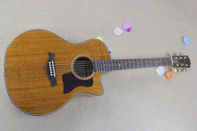 Factory custom 41'' koa body acoustic guitar with B-Band pickups,vine inlay,solid top,golden tuners,can be customized