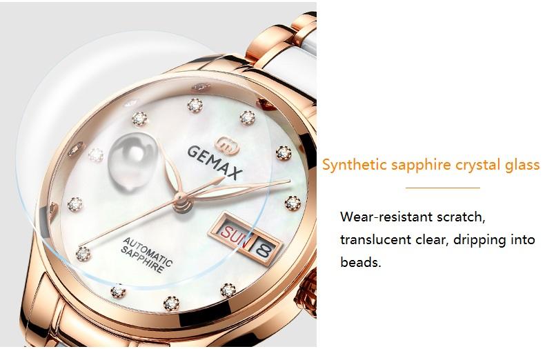 GEMAX Women Watches Waterproof Automatic Mechanical Watch Ladies Fashion Top Brand Diamond Calendar Ceramic Sapphire MIYOTA 2017 (15)