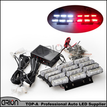 36 4x9 LED 36W Emergency Vehicle Strobe Light 1PC 1W Flash Warning Red White LED Police Fireman Lamp Free Shipping