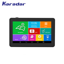 KARADAR Best sell car GPS 4.5 inch IPS screen 854*480 Android 4.4 DDR3 512MB bluetooth MTK8127 Cortex A7*4 1.3GHz(China)