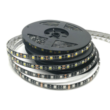 5m/Lot 5050 Black PCB LED Strip 12V Home Decoration Lighting 300LED IP65 Waterproof LED Tape RGB/White/Warm White/Blue/Green/Red(China)