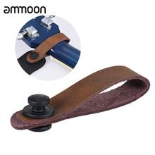 Leather Guitar Strap Button Headstock Tie Adaptor for Acoustic Electric Guitar Ukelele Bass Brown