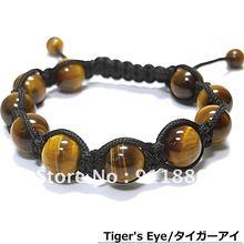 Лучшие продажи, мужская мода браслет Шамбала поступление! Шарм Tigereye бусины браслета, как фестиваль Лучший подарок/бесплатная доставка(China)