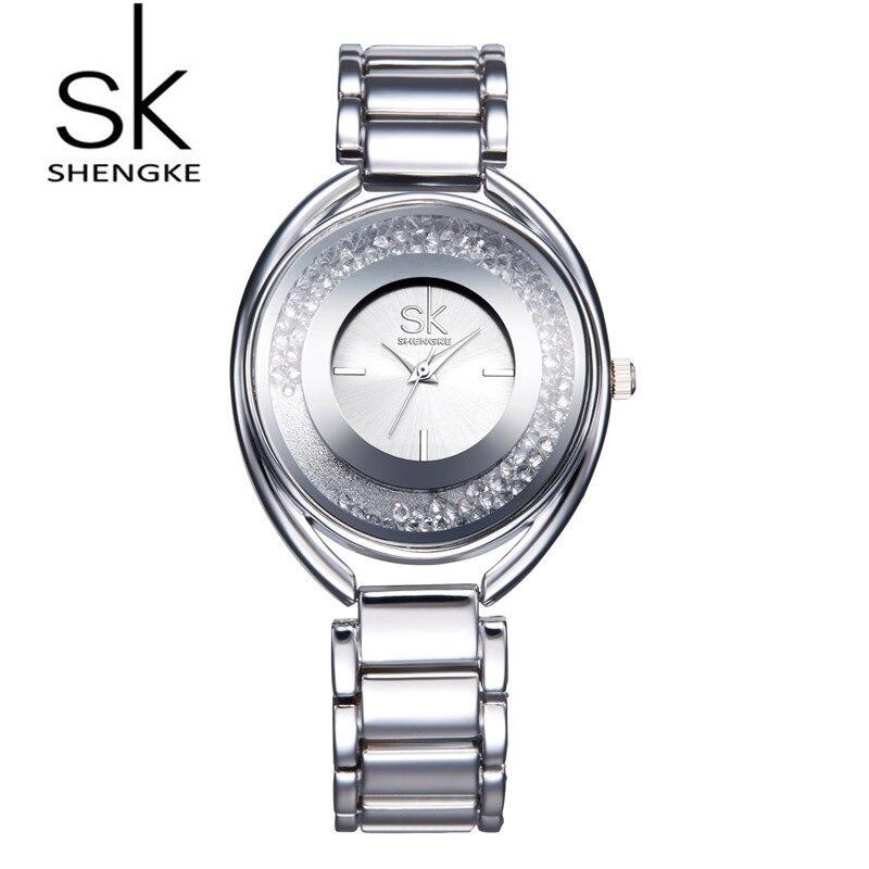 SK Brand Luxury Women Wrist Watches Fashion Rose Gold Silver Stainless Steel Women Quartz Dress Watch Relogio Feminino S0016<br><br>Aliexpress