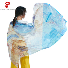scarf 100% Mulberry Long Silk Scarf Luxury Brand Spring Autumn Shawls summer Beach Cover-ups for Women Lady Girl gift hijab(China)