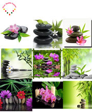 5D DIY Stone flower diamond painting Bamboo flowers needlework cross stitch crystal full round water diamond embroidery orchid