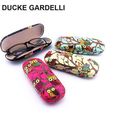 DUCKE GARDELLI 10pcs Cute Owl animal Metal Sunglasses Optical Case Protable  PU Hard Eye Glasses Hard Case Eyewear Protector Box