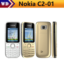 Original Nokia C2-01 Unlocked Mobile Phone C2 Refurbished GSM/WCDMA 3G Phone(China)