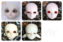 1/6 scale BJD head for DIY practice face-up Resin model toys doll BJD/SD head shape.only sell head without makeup and eyes(China)