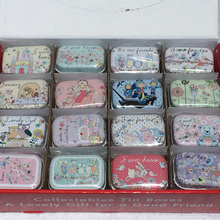 32pcs/lot Small Handbag Storage Jewelry Decorative Tin Box With Lids Candy case Earphone Ring Christmas Gifts Boxes