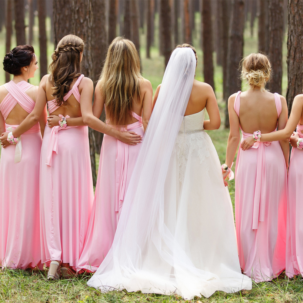 Jersey Convertible Bridesmaid Dress Halter Custom Made Royal Blue Maxi Boho  Infinity Floor Length Sleeveless Multiway  5e68b39ebd8d