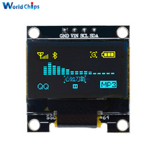 "0.96 inch IIC Serial Yellow Blue OLED Display Module 128X64 I2C SSD1306 12864 LCD Screen Board GND VCC SCL SDA 0.96"" for Arduino(China)"