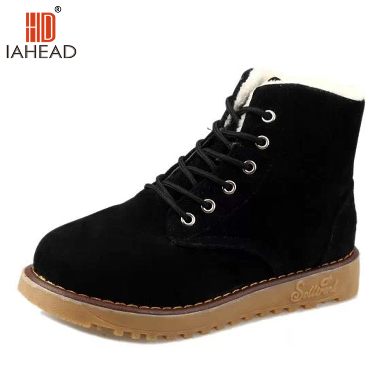 IAHEAD Brand New Fashion warm snow boots heels winter boots new arrival women ankle boots women shoes UPC265<br>