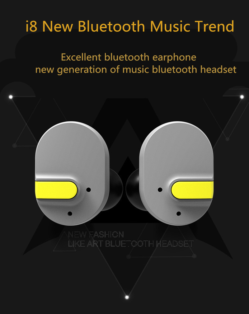LEORY Newest I8 Sports Bluetooth Earphone Waterproof TWS Dual Ear Stereo Wireless Mini Earphones with Charging Box