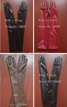 Free shipping new arrival Ultra long black PU leather gloves women's gloves soft glove bag 50cm long gloves L669(China)