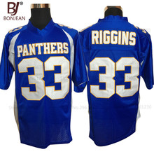 BONJEAN Mens Friday Night Lights Tim Riggins 33 Dillon High School Jersey Cheap Embroidery Blue American Football Jerseys
