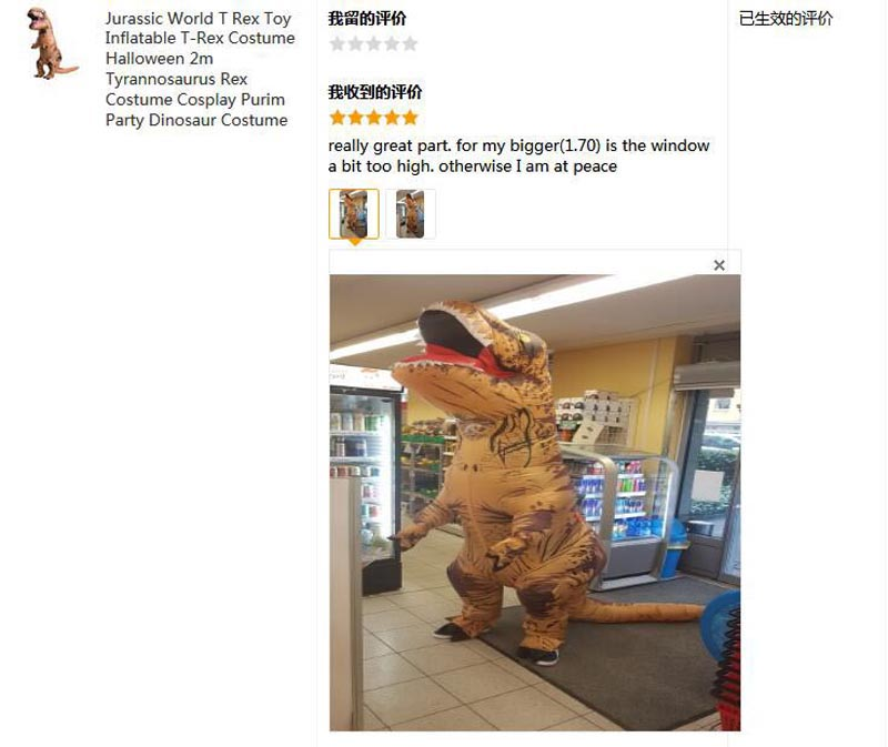 Party Adult t rex Dinosaur Costume Halloween Cosplay Fantasy Inflatable Dinosaur T REX Blowup Halloween Mascot Costume for Women (3)