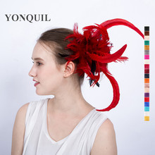 More colors Feather in make fascinators headpiece women church wedding fashion hair accessories headbands party supplies SYF122